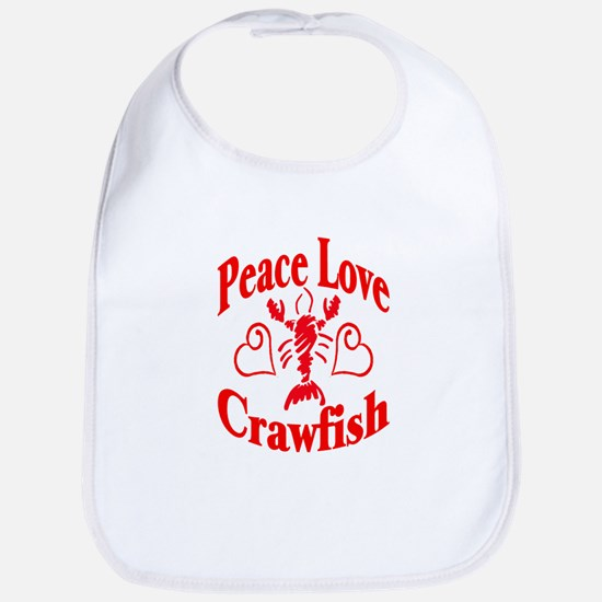 Peace Love Crawfish Bib