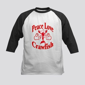 Peace Love Crawfish Kids Baseball Jersey
