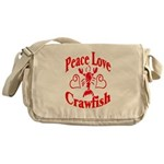 Peace Love Crawfish Messenger Bag
