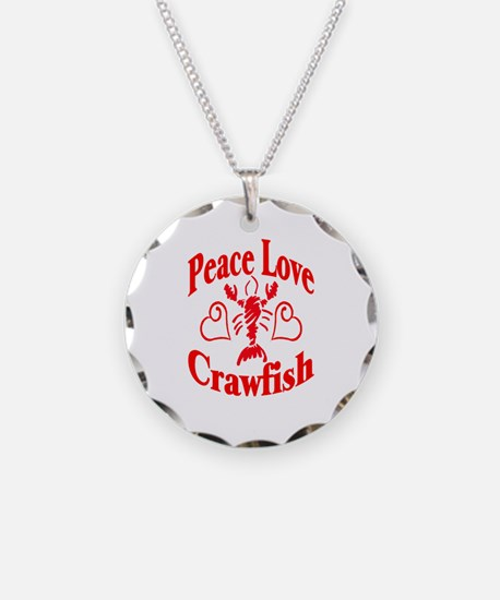 Peace Love Crawfish Necklace