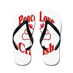 Peace Love Crawfish Flip Flops