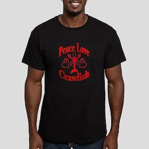 Peace Love Crawfish Men's Fitted T-Shirt (dark)