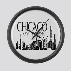 Chicago My Town Large Wall Clock