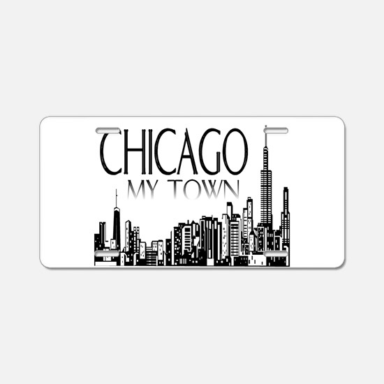Chicago My Town Aluminum License Plate