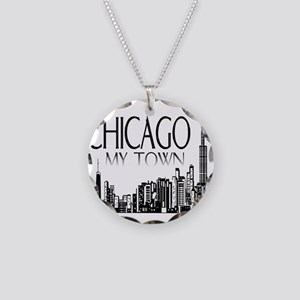 Chicago My Town Necklace Circle Charm
