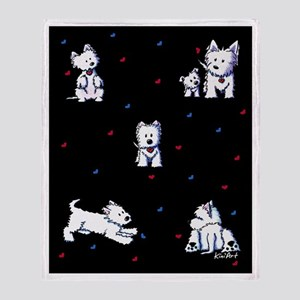 Block Party Westies Throw Blanket