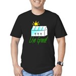 Live Green Greenhouse Men's Fitted T-Shirt (dark)