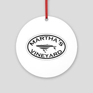 Martha's Vineyard MA - Oval Design. Ornament (Roun