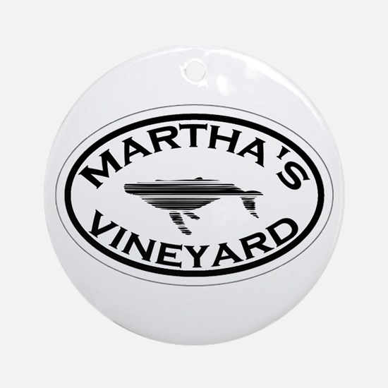 Martha's Vineyard MA - Oval Design. Ornament (Roun
