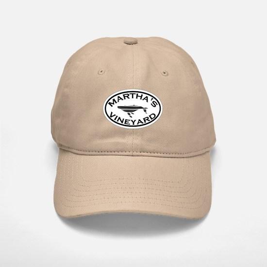 Martha's Vineyard MA - Oval Design. Baseball Baseball Cap