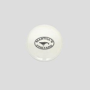 Martha's Vineyard MA - Oval Design. Mini Button