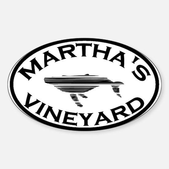 Martha's Vineyard MA - Oval Design. Sticker (Oval)