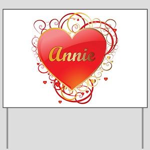 Annie Valentines Yard Sign