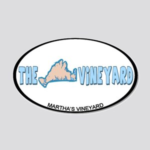 Martha's Vineyard MA - Oval Design. 22x14 Oval Wal
