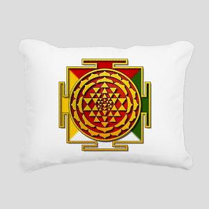 Sri Yantra Mandala Rectangular Canvas Pillow