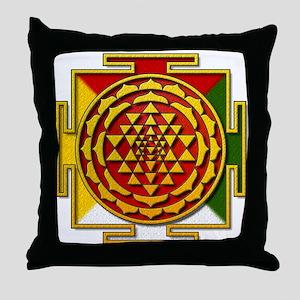 Sri Yantra Mandala Throw Pillow