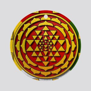 Sri Yantra Mandala Round Ornament