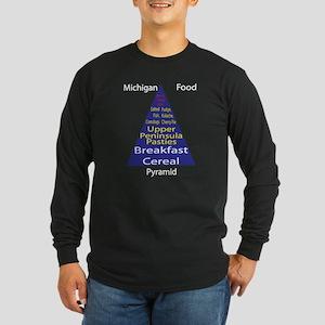 Michigan Food Pyramid Long Sleeve Dark T-Shirt