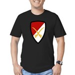 6th Cavalry Bde Men's Fitted T-Shirt (dark)
