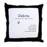 Pet Tribute Throw Pillow