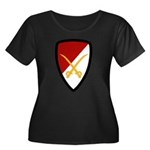 6th Cavalry Bde Women's Plus Size Scoop Neck Dark