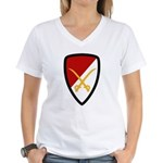 6th Cavalry Bde Women's V-Neck T-Shirt