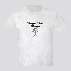 Hugs Not Slugs Kids Light T-Shirt