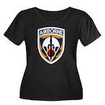 SOCKOR Women's Plus Size Scoop Neck Dark T-Shirt
