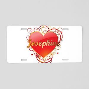 Josephine Valentines Aluminum License Plate