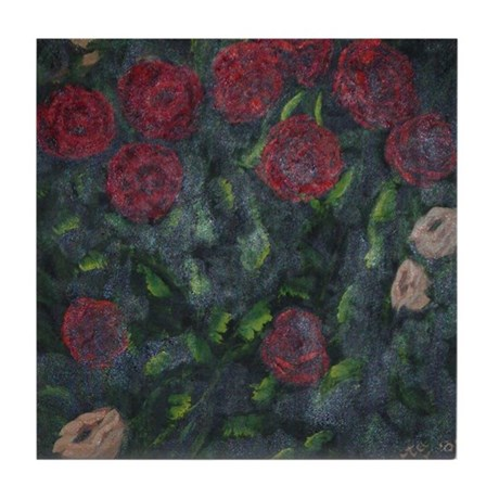 Red Roses Tile Coaster