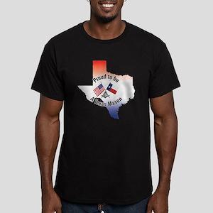 Texas Freemason Men's Fitted T-Shirt (dark)