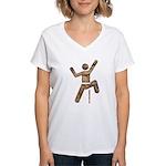 Rock Climber Women's V-Neck T-Shirt