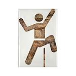 Rock Climber Rectangle Magnet (10 pack)