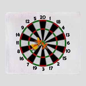 Dartboard Bullseye Throw Blanket