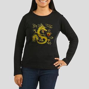 Golden Dragon Women's Long Sleeve Dark T-Shirt
