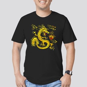 Golden Dragon Men's Fitted T-Shirt (dark)
