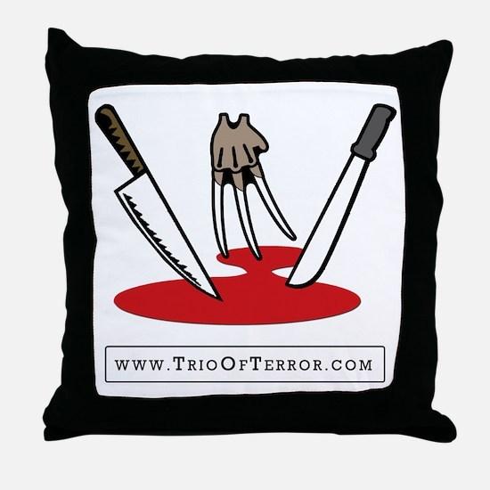 Trio Of Terror Throw Pillow