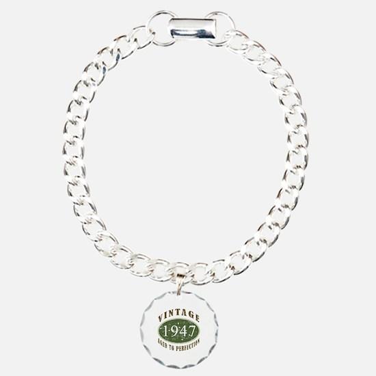 Vintage 1947 Retro Charm Bracelet, One Charm