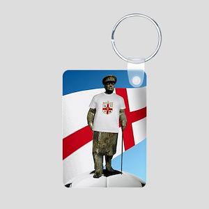 Churchill England Soccer Aluminum Photo Keychain