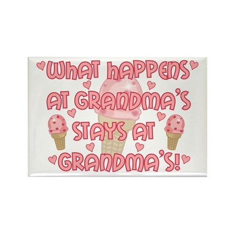What happens at Grandma's Rectangle Magnet