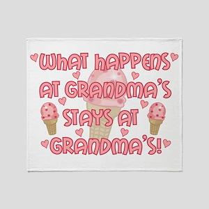 What happens at Grandma's Throw Blanket