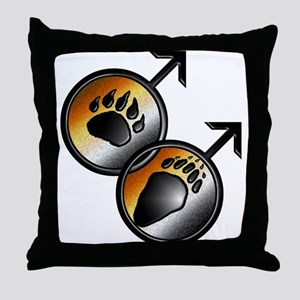 man on man Bear pride with pa Throw Pillow