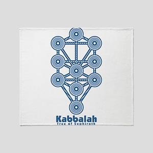 Kabbalah Tree of Life Throw Blanket