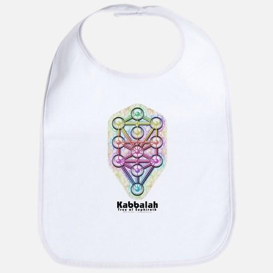 Kabbalah Tree of Life Cotton Baby Bib