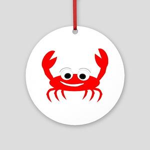Crab Design Ornament (Round)