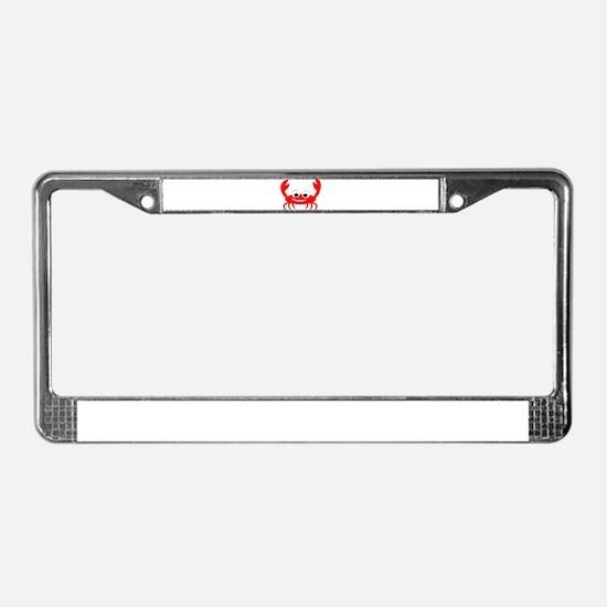 Crab Design License Plate Frame