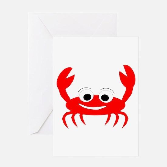 Crab Design Greeting Card