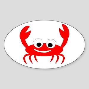 Crab Design Sticker (Oval)