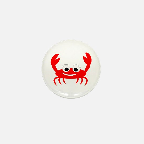 Crab Design Mini Button