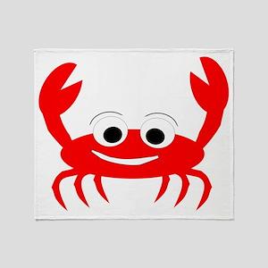 Crab Design Throw Blanket